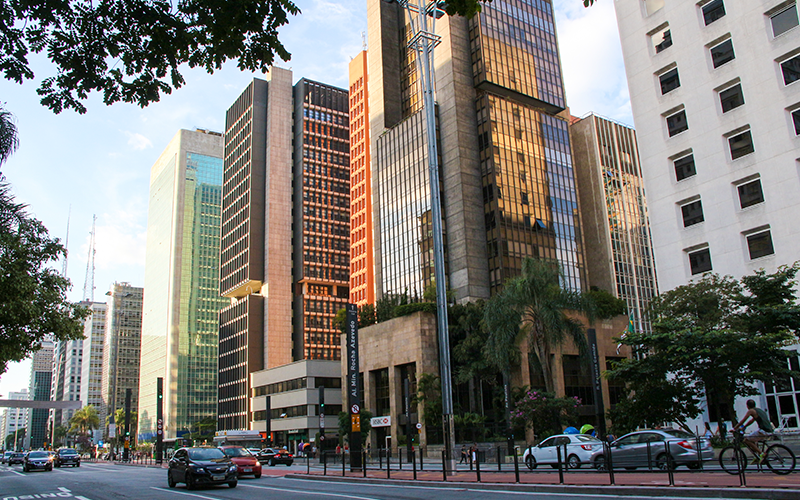 Prédios na Avenida Paulista