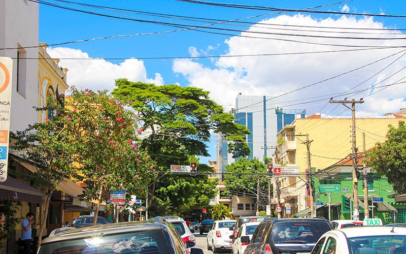Vista da rua em Pinheiros