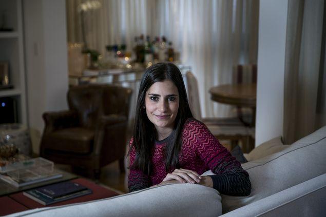 Renata Castilho em sua nova residência.