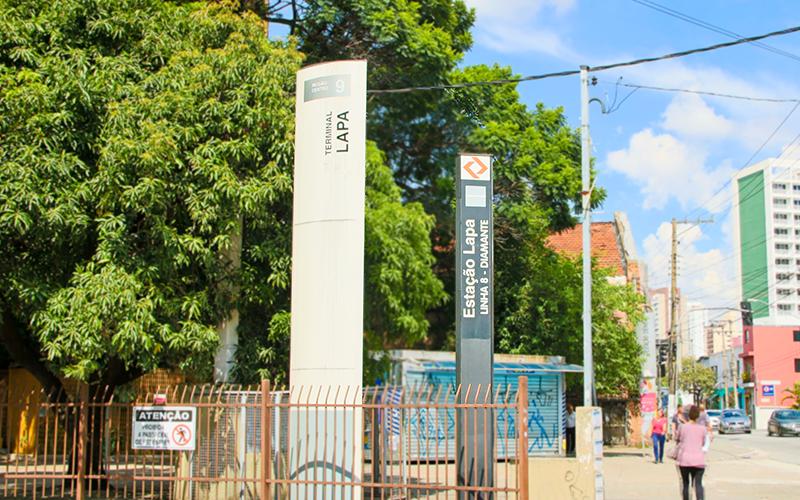Estação de trem da Lapa, linha 8 Diamante da CPTM